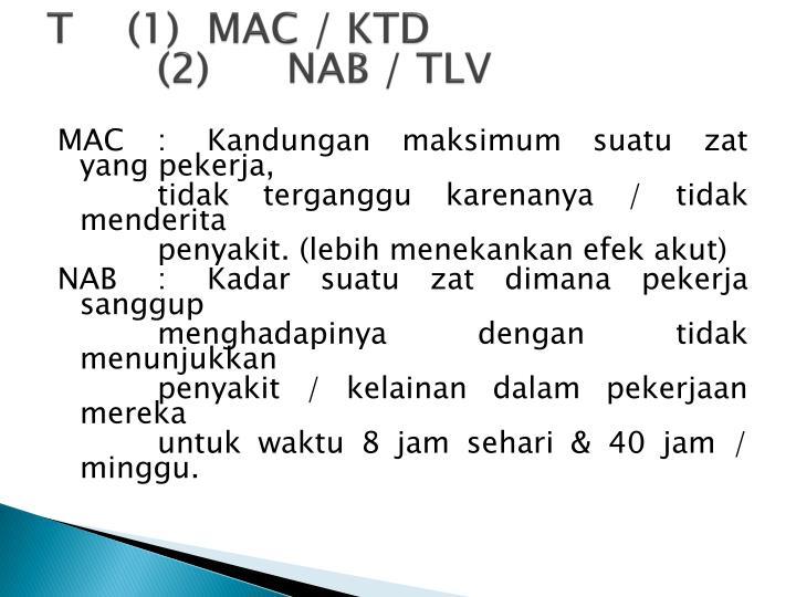 T(1)MAC / KTD