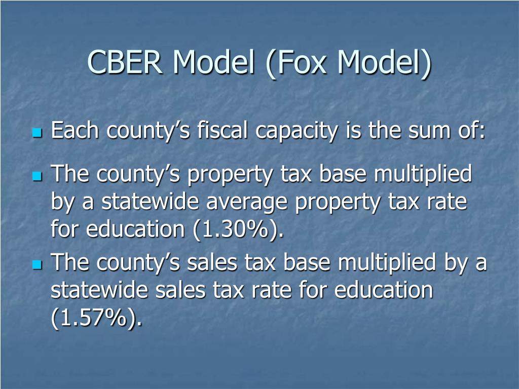 CBER Model (Fox Model)