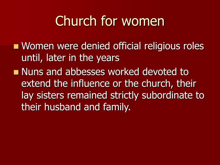 Church for women