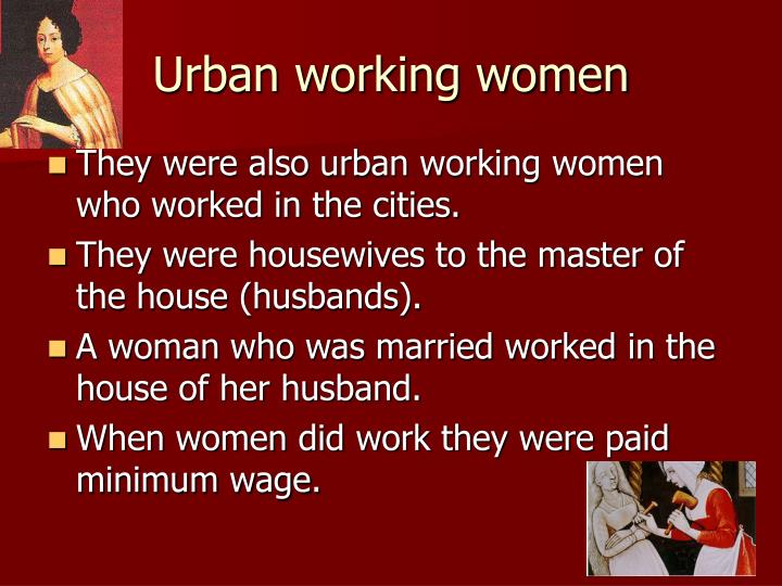 Urban working women