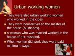 urban working women