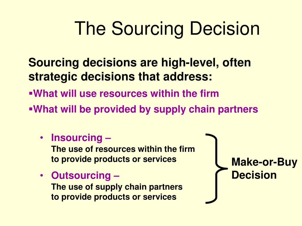 The Sourcing Decision