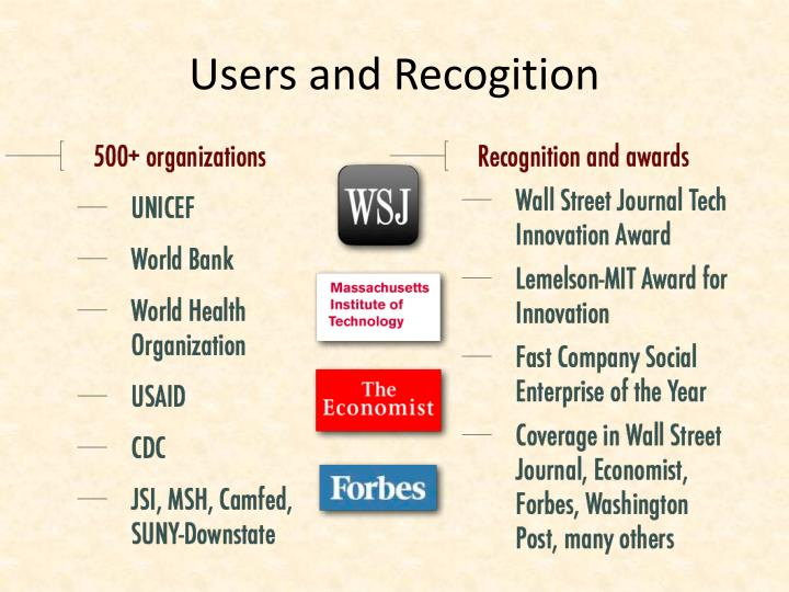 Users and Recogition