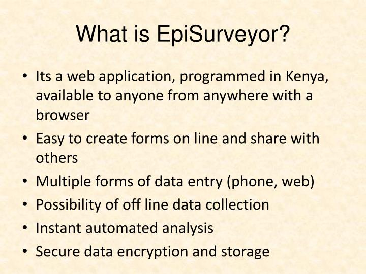 What is EpiSurveyor?