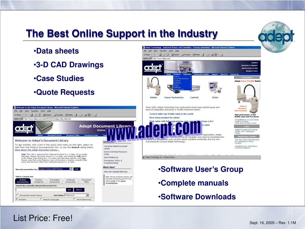 The Best Online Support in the Industry