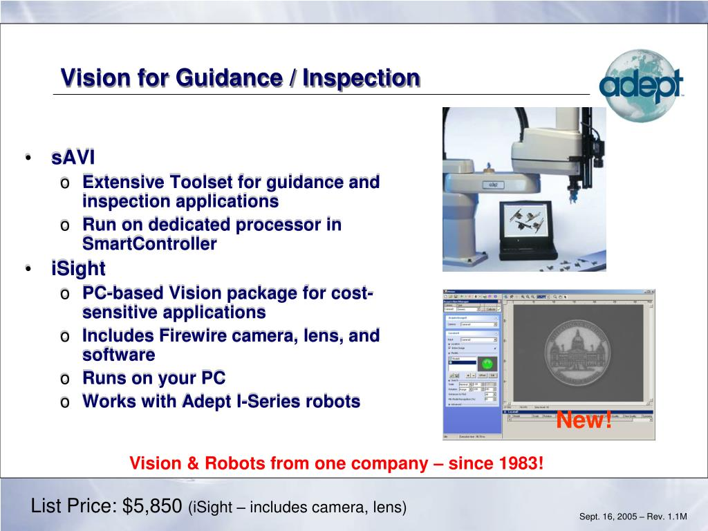 Vision for Guidance / Inspection