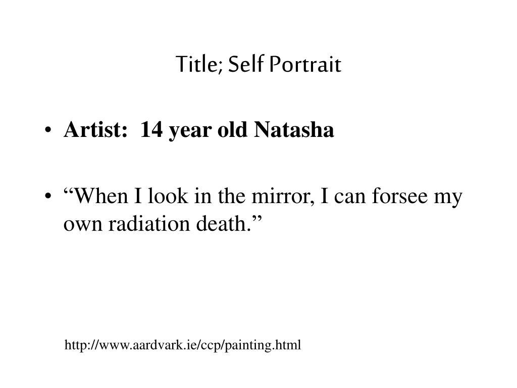 Title; Self Portrait