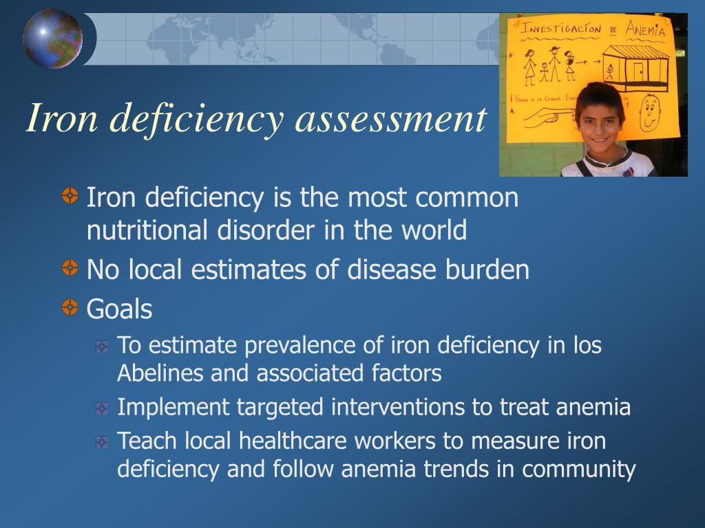 Iron deficiency assessment
