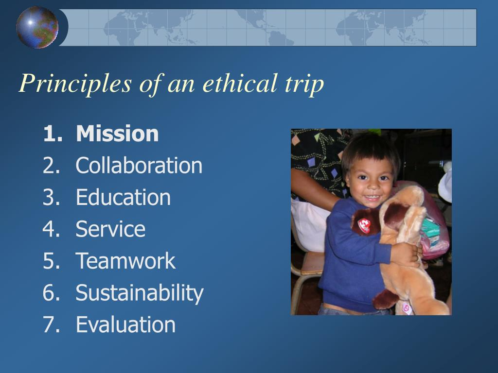 Principles of an ethical trip
