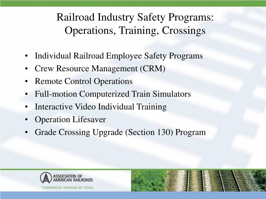 Railroad Industry Safety Programs: