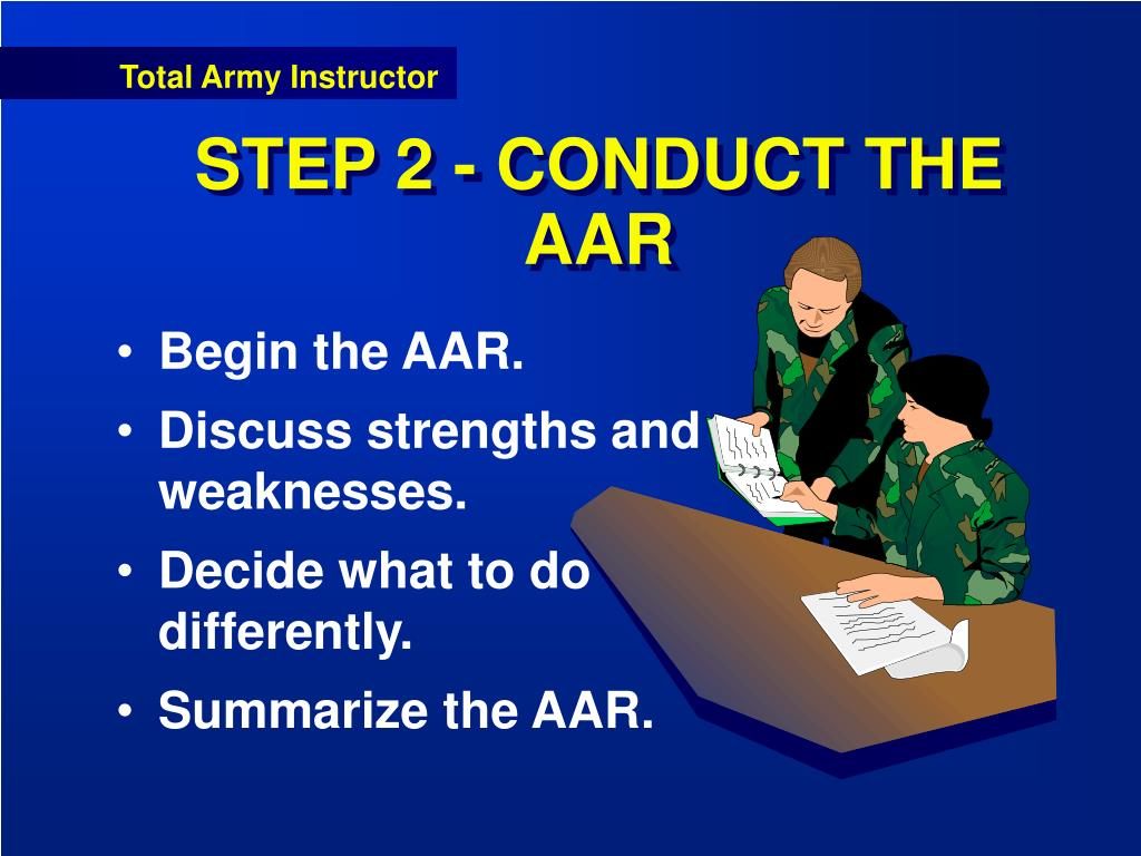STEP 2 - CONDUCT THE AAR