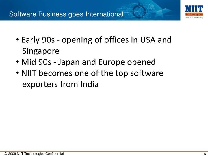 Software Business goes International