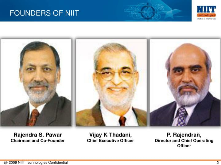 FOUNDERS OF NIIT
