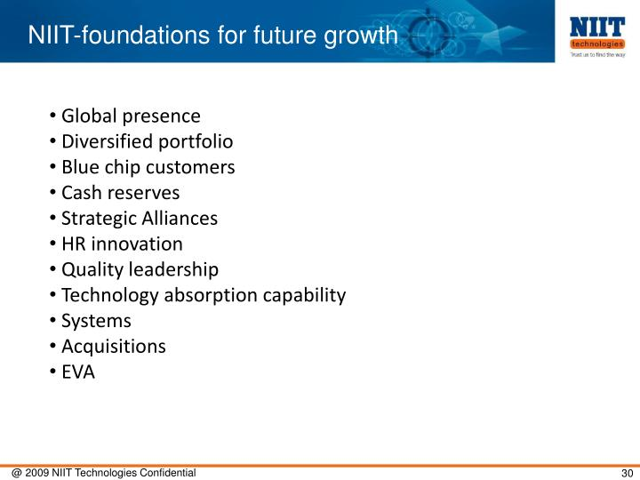 NIIT-foundations for future growth