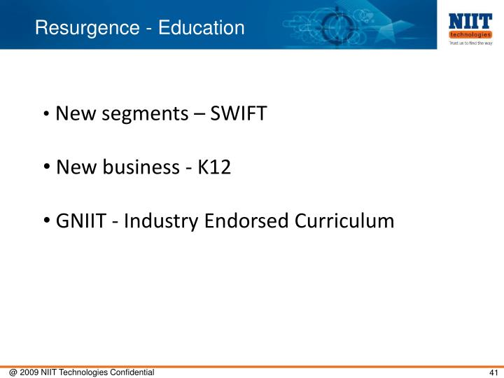 Resurgence - Education