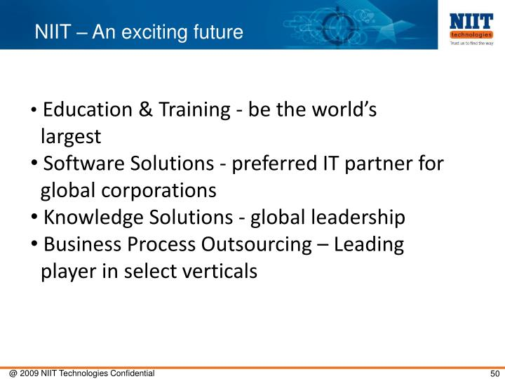 NIIT – An exciting future
