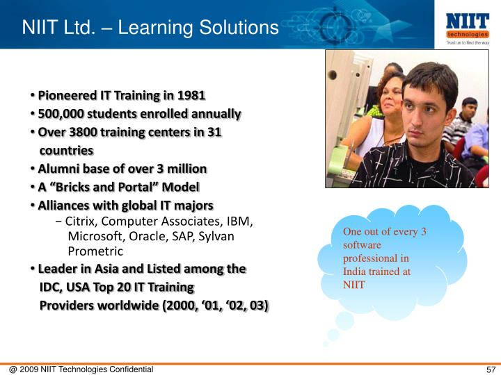 NIIT Ltd. – Learning Solutions