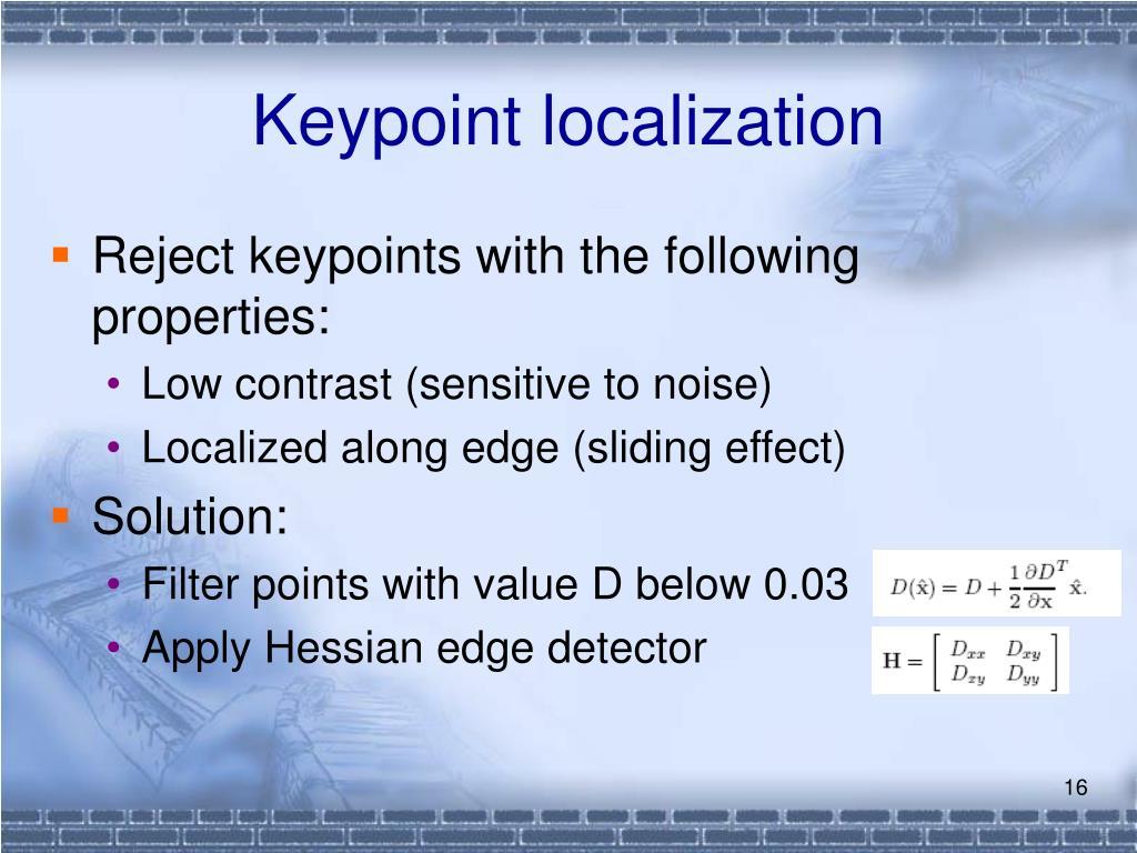 Keypoint localization