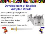 development of english adopted words
