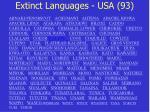 extinct languages usa 93
