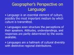 geographer s perspective on language