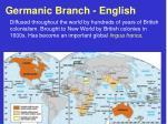 germanic branch english