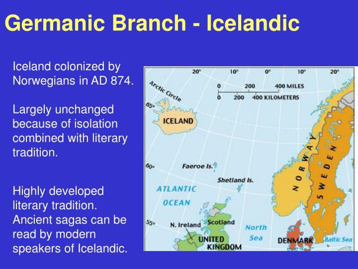 Germanic Branch - Icelandic