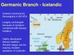 germanic branch icelandic