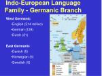 indo european language family germanic branch