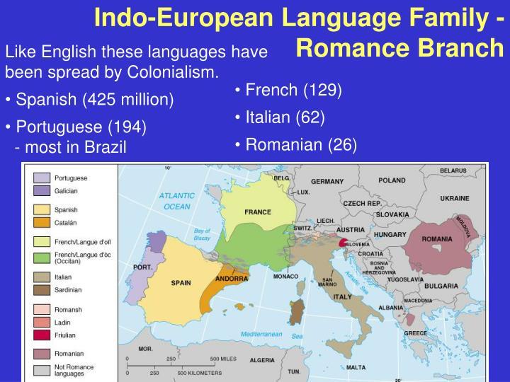 Indo-European Language Family - Romance Branch