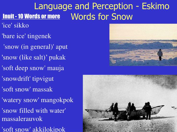 Inuit - 10 Words or more