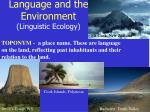 language and the environment linguistic ecology