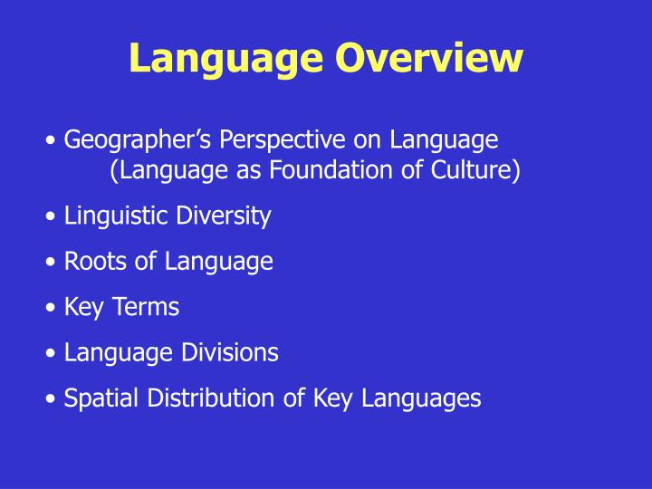 Language Overview