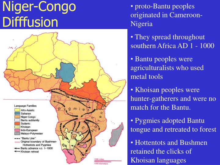 proto-Bantu peoples originated in Cameroon-Nigeria