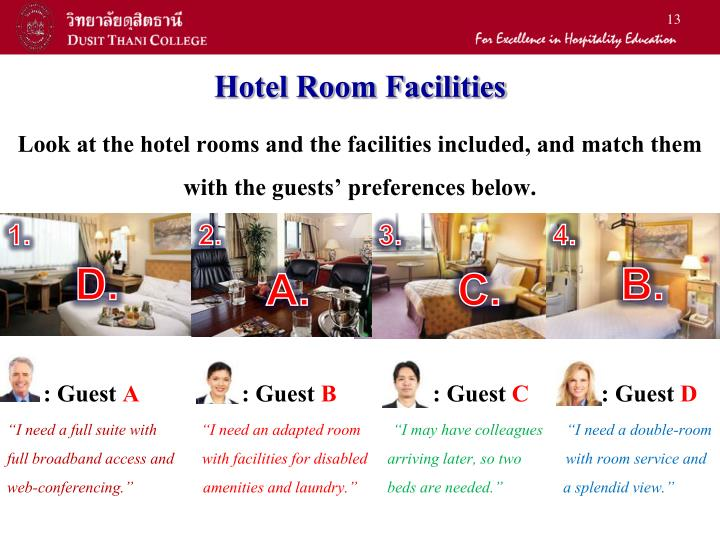 Hotel Room Facilities