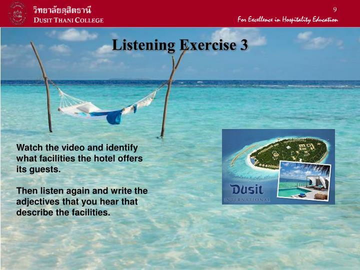Listening Exercise 3