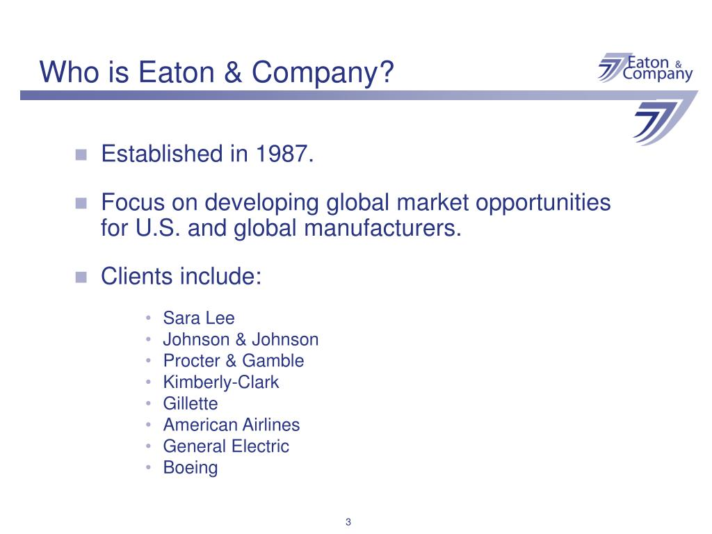 Who is Eaton & Company?