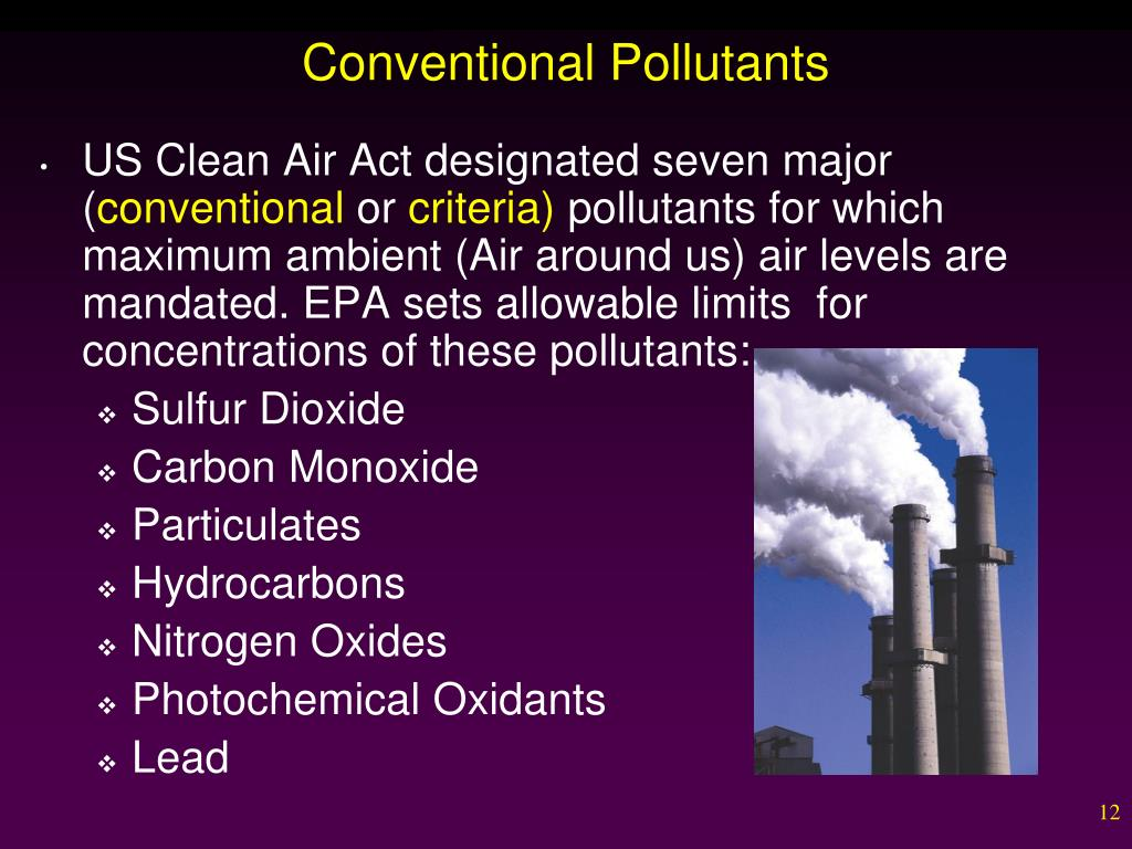 Conventional Pollutants