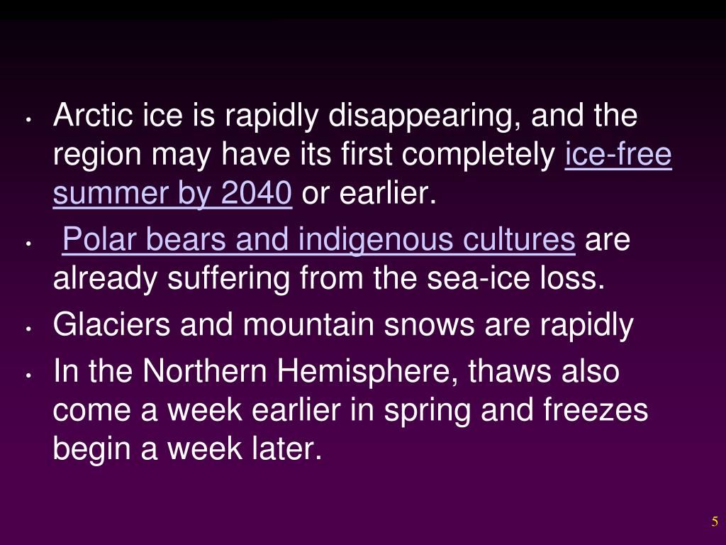 Arctic ice is rapidly disappearing, and the region may have its first completely
