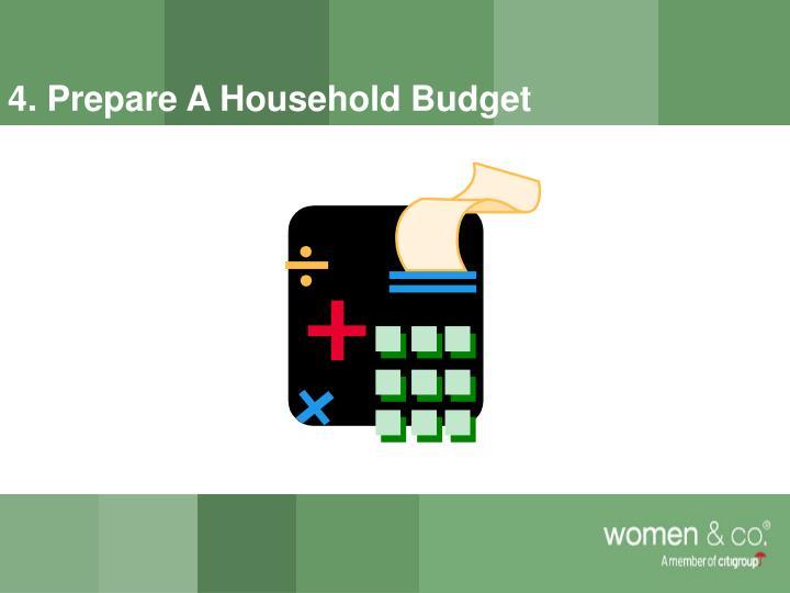 4. Prepare A Household Budget