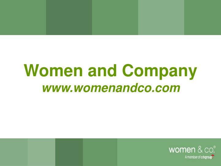 Women and Company