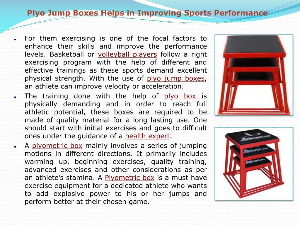 Plyo Jump Boxes Helps in Improving Sports Performance