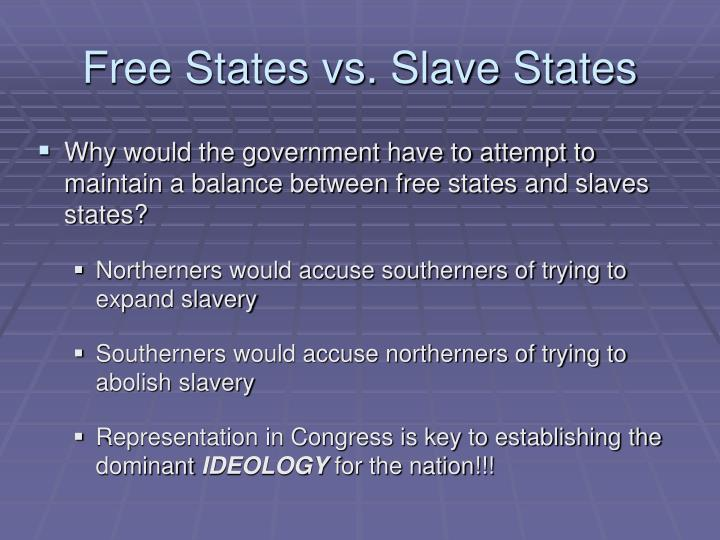 Free States vs. Slave States
