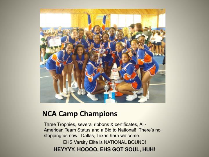 NCA Camp Champions
