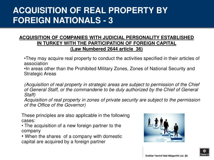 ACQUISITION OF REAL PROPERTY BY FOREIGN NATIONALS - 3