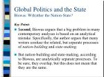 global politics and the state biswas w h ither the nation state3