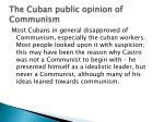 the cuban public opinion of communism