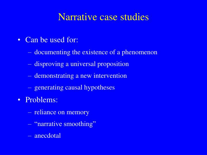Narrative case studies