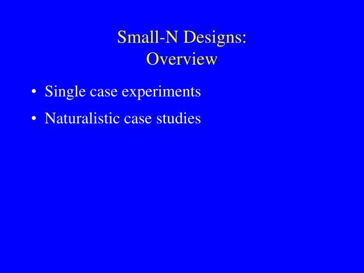 Small-N Designs: