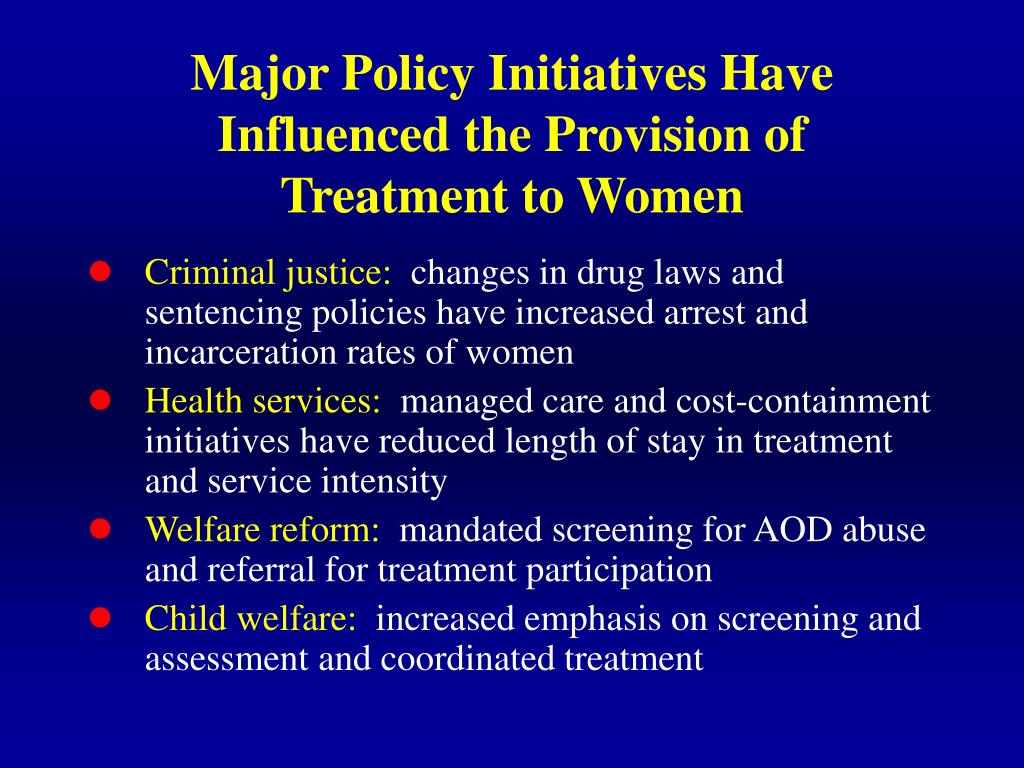 Major Policy Initiatives Have Influenced the Provision of